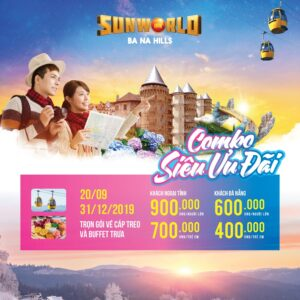 SUPER PREFERENTIAL COMBO, CABLE CAR TICKET + BUFFET FOR ONLY 900K