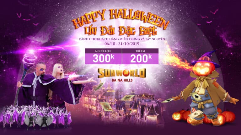 HAPPY HALLOWEEN – Cable car ticket discount only from VND 200k for Central and Central Highlands tourists